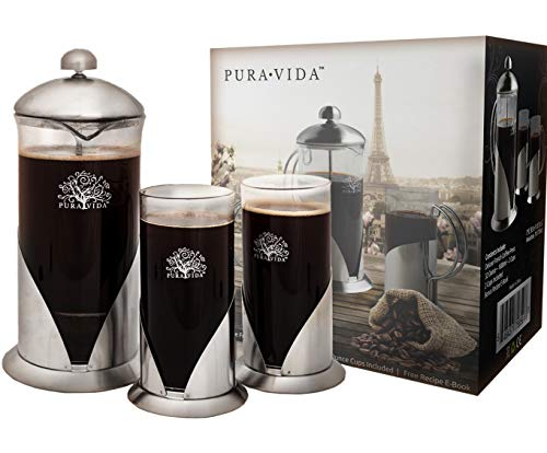 Pura Vida French Press Coffee Maker Set