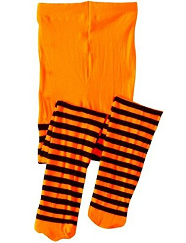 LC Boutique Girls Bold Striped Footed Tights Size 2 to 10 years- 5 Color -