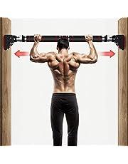 HAKENO Pull Up Bar No Screw Installation Doorway - Chin up Bar Width Adjustable with Locking Mechanism Door Frame Workout Bar - Home Fitness Gym Equipment 600LBS
