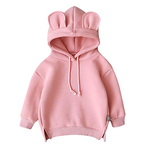 ❤Ywoow❤ Baby Clothes Set, Toddler Baby Kids Boy Girl Hooded Cartoon 3D Ear Hoodie Sweatshirt Tops Clothes (Swirl Jumper Set)