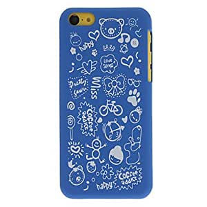 Cartoon Faerie Pattern Hard Case for iPhone 5C (Optional Colors) , Pink