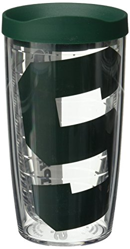 Tervis Michigan State Spartans Colossal 16oz Clear Tumbler 4 Pack with Hunter Green Lid by Tervis