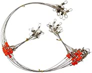 Fishing Wire Leader Rigs Trace Stainless Steel Leader Line Fishing Rigs Tackle Lure Swivel Snaps Beads High-St