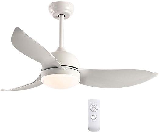 Ventilador techo Con Luz Lampara Y Mando A Distancia Ajuste De ...