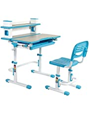 Einstein - Multi-Functional Ergonomic Height Adjustable Kids' Desk & Chair Set with a Wide Book Shelf Included!