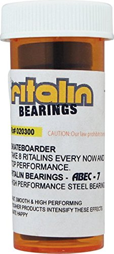 Ritalin Bearings Abec 7 Chrome Skateboard Bearings