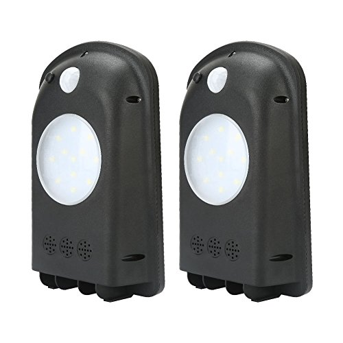 MAIICY High-Brightness Source Solar Light, Outdoor Solar Motion Sensor Lights, IP65 Solar Powered Wireless Waterproof Exterior Security Wall Light for Garden, Patio,Garage, Yard and Pathway, 2 Pack