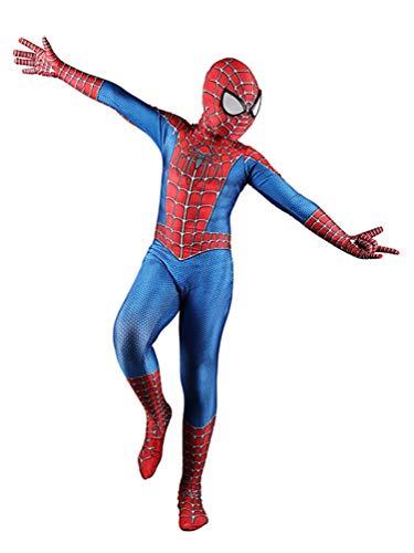 Panmeihua Halloween Kids Superhero Costume Boy Spider Raimi Suit Lycra Bodysuit,XS