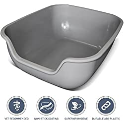 PetFusion Easy Clean Cat Litter Box - Large (The BetterBox). [Non-Stick Coating; Ultra Strong, Easy to use, Open top Kitty Litter pan]