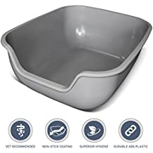 PetFusion LARGE Cat Litter Box (the BetterBox). NON-STICK COATING for superior hygiene & easier cleaning. Stronger ABS plastic
