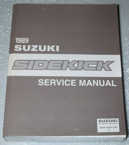 1989 suzuki sidekick service manual paperback – 1988