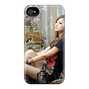 New Snap-on Jeffrehing Skin Case Cover Compatible With Iphone 4/4s- I Will Wait Till End