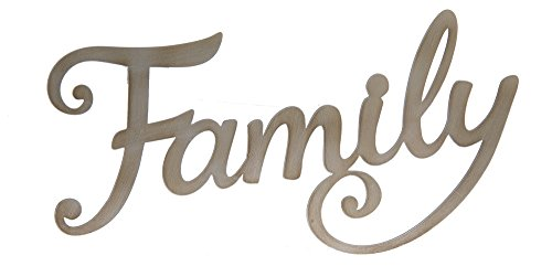 "Ganz 15"" Metal Word Art Wall Sign ""Family"""