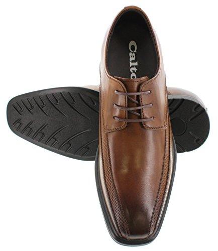 calto–g60126b 7,6cm größer die Höhe Steigerung Aufzug Schuhe–Braun Schnürschuh OXFORD