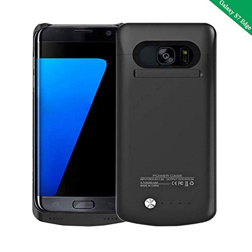 Idealforce Samsung Galaxy S7 Edge Battery Case,5200mAh External Power Bank Cover Portable Charger Protective Charging Case for Samsung Galaxy S7 Edge (Black)