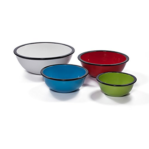 Ovenex 4 Piece Ceramic Mixing Bowl Set (Rainbow) by Xtrema