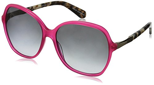 Kate Spade Women's Jolyn Square Sunglasses, Pink Gold/Gray Gradient, 58 - Glasses Spade Kate Pink