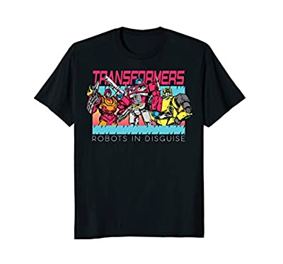 Transformers Robots In Disguise Retro Neon T-Shirt