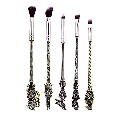 Beauty Makeup Brushes Kit 5pcs Foundation Blending Blush Eyeshadow Face Powder Brush Makeup Soft Fan Brush Foundation Brushes Make Up Tool