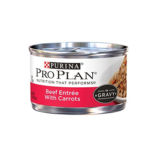 Purina Pro Plan Adult Beef Entree with Carrots Braised in Gravy Adult Wet Food - (24) 3 oz. Can