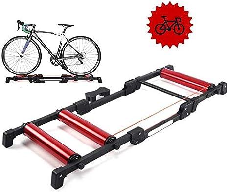 L&WB Entrenamiento Bicicleta Destacan Rodillos Formadores Cubierta De Bici Inicio Ejercicio Turbo Entrenando Aplicable 24-29 Pulgadas Bicicleta De Montaña/Bicicleta De Carretera 700C,Rojo: Amazon.es: Deportes y aire libre