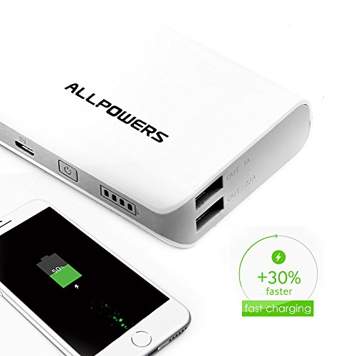 ALLPOWERS ability Bank External Battery Charger 15600mAh compact Charger together with iPower and rapid impose know-how for Cell phone iPhone iPad Samsung MP3 and the majority of USB solutions Popular selections
