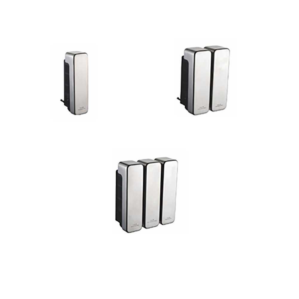 interhasa! Stainless Steel Wall Mount Soap/Shampoo/Lotion Shower Dispenser, 1 Chamber HSD-F70192