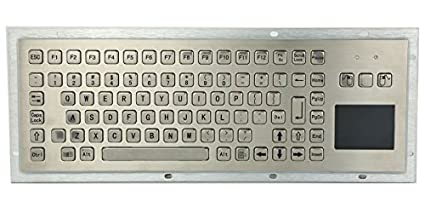 Amazon com: 85 keys Stainless steel computer keyboard with