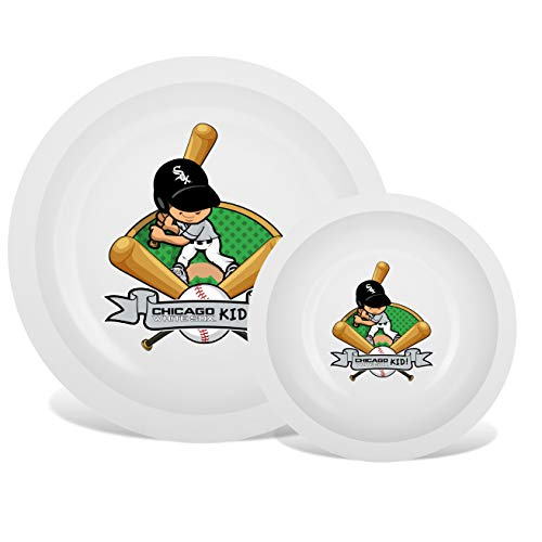 - Plate & Bowl Set | Kids Small Plastic Tumblers, Snack Bowls & Snack Baby Set Kids Flatware Set, Kids Dishes Set are Reusable, Microwave - Dishwasher Safe | Chicago White Sox