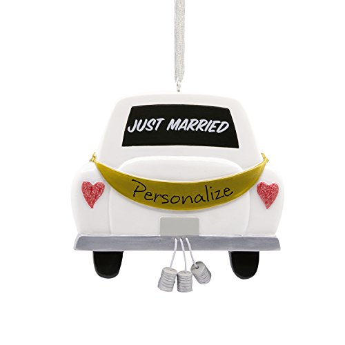 Hallmark DIY Personalized Christmas Ornament, Wedding Just (Just Married Car Ornament)