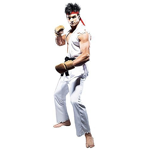 G-Dreamer Street Fighter Ken Ryu 4 pcs Adult Costum for Halloween Cosplay Party S-L]()