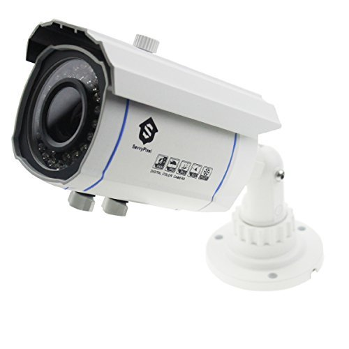 Security Bullet Camera, Savvypixel 2.0 Megapixel HD 1080P 4 in 1 TVI/CVI/AHD/CVBS Security Cameras, Night/Day Outdoor Surveillance Camera with 2.8-12mm Lens( - Lenses White