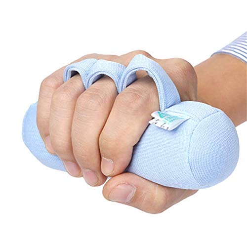 Palm Protector with Finger Separators,Hand Contracture Orthosis,Soft Palm Cushions for Finger Contractures Prevention,Fit Right or Left Hand