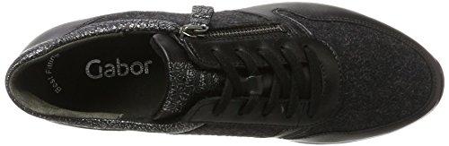 de Shoes Cordones Gabor Negro Mujer Zapatos Schwarz para Gabor Derby Anthrazit 67 Casual w6ffdIq