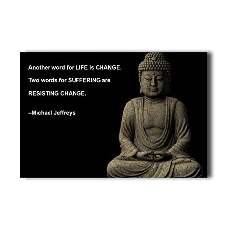 buddhist quotes change wall paper wall sticker home decor poster 20x30 inch