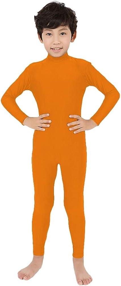 SK Studio Kids Full Bodysuit Dancewear Solid Color Lycra Spandex Zentai Without Gloves and Socks