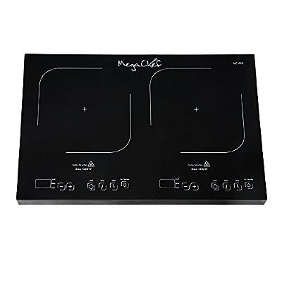 MegaChef MC1800 Portable Dual Burner Powersharing Induction Cooktop