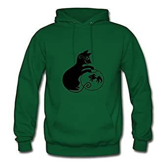 Women Cat Personalized Popular Cool Green Hoodiesby Sarahdiaz