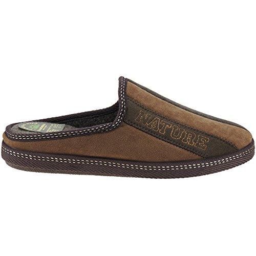 CANOVAS RUIZ - Zapatillas Destalonada De Casa - Modelo 18-713 MARRÓN
