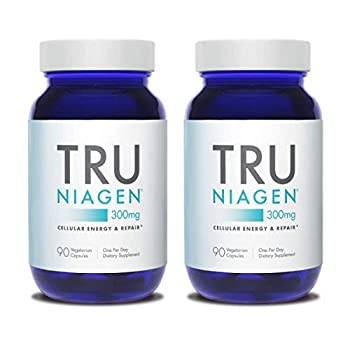 Image of Health and Household TRU NIAGEN Nicotinamide Riboside - Patented NAD Booster for Cellular Repair & Energy, 300mg Vegetarian Capsules, 300mg Per Serving, 90 Day Bottle (2 Pack)