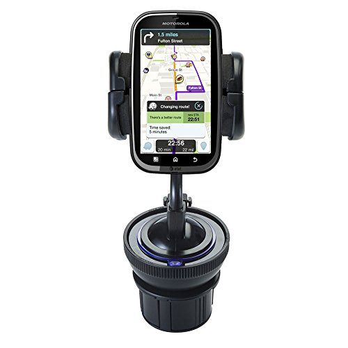 - Universal Vehicle Cupholder Adapter with Removable Suction Mount Cradle to Create Windshield Mount for Motorola Kobe