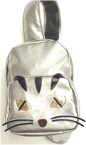 猫 リュック ワンショルダー レディース メンズ 猫顔 トラ猫 合皮 シルバー 猫グッズ 雑貨 プレゼント かわいい 人気