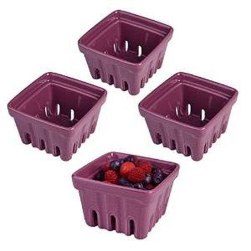 Berry Basket, Purple, Set of 4 - Purple Berry