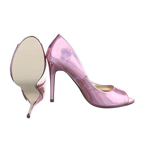 Ital-Design Women's Peep-Toe Pink dxsM4E