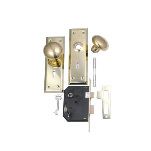 Belwith Products 1129 Knob/Mortise Lock, Brass
