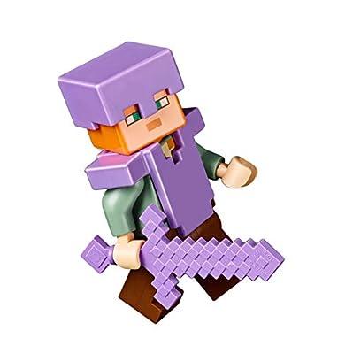 LEGO Exclusive Minecraft Minifigure - Alex (with Purple Armor and Sword) 21136