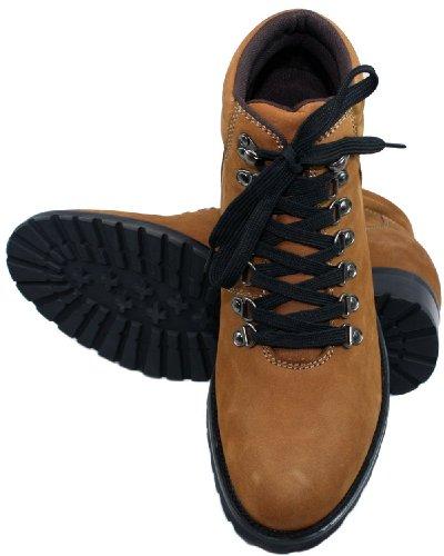 Calden–k289023–8,4cm Grande Taille–Hauteur Augmenter Chaussures ascenseur (Marron à Lacets Bottes)
