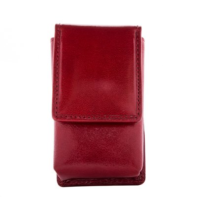 Access Italian Shade - CUSTOM PERSONALIZED INITIALS ENGRAVING Tony Perotti Womens Italian Bull Leather Top Flap Double Lipstick Case with Mirror in Red