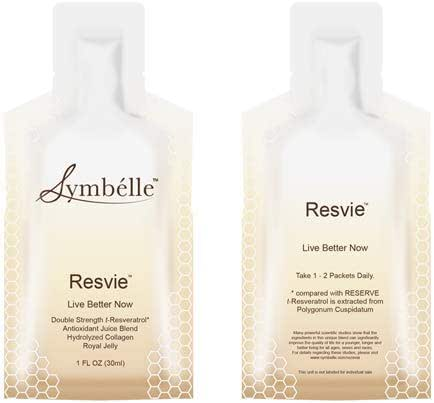 Symbélle Resvie t-Resveratrol Royal Jelly Collagen Antioxidant Adaptogen Brain Support Blend 30x 1FL OZ/Box