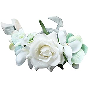ocharzy Bridesmaid Wrist Corsage Wristband Roses Bride Hand Flower Decor Wedding Prom Party 108